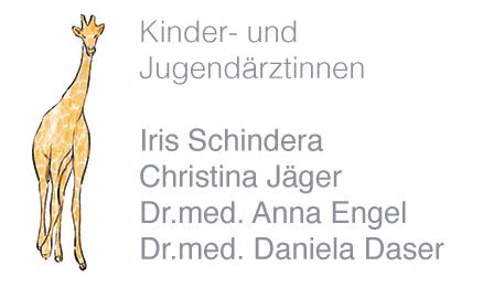 Kinderärztinnen Iris Schindera, Christina Jäger, Dr.med. Anna Engel, Dr. med. Daser